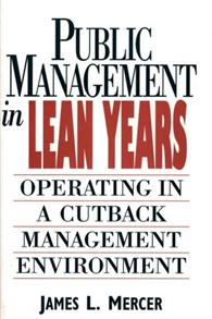 Public Management in Lean Years cover image