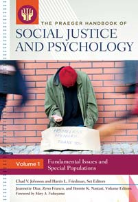 The Praeger Handbook of Social Justice and Psychology cover image