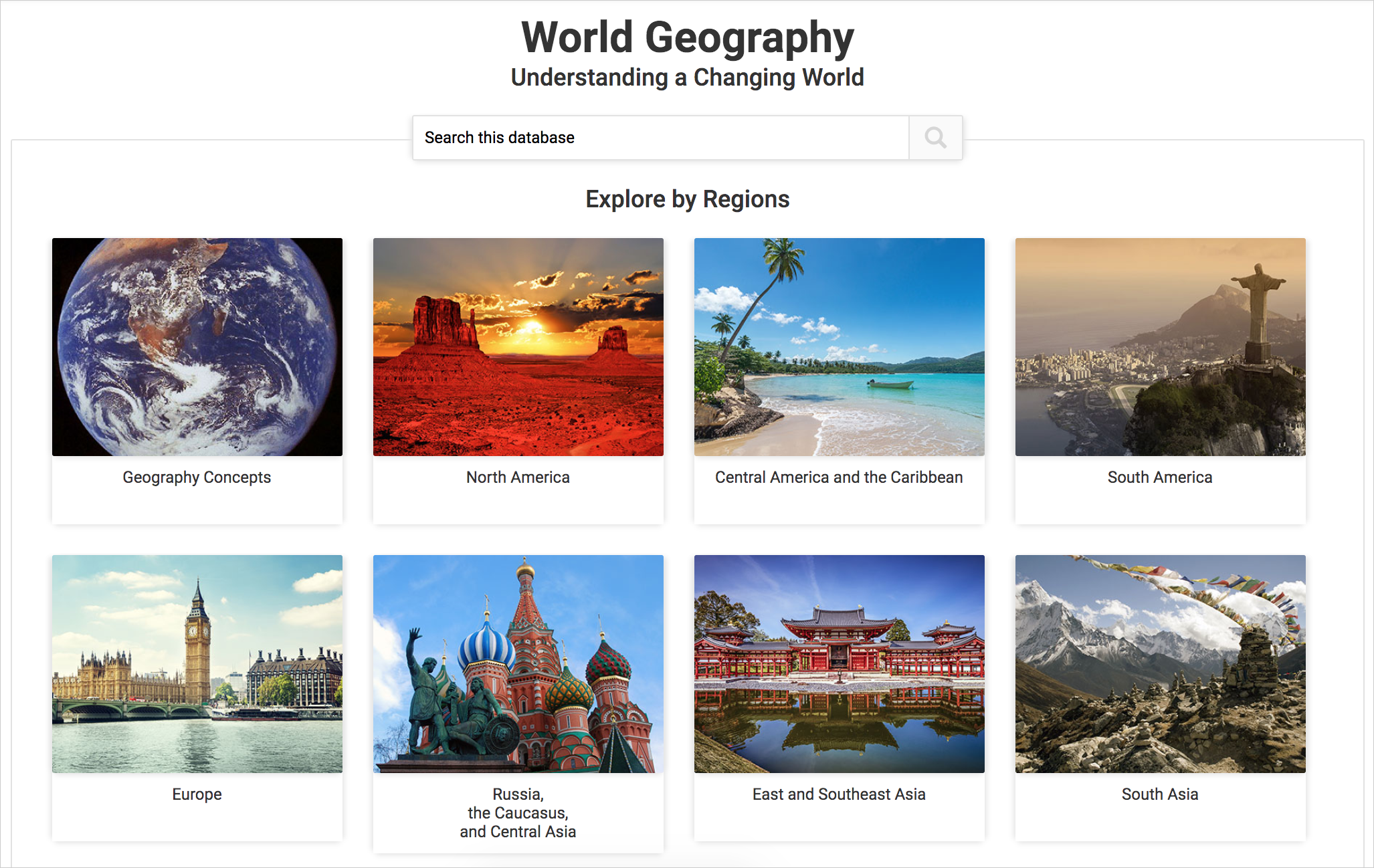World Geography cover image