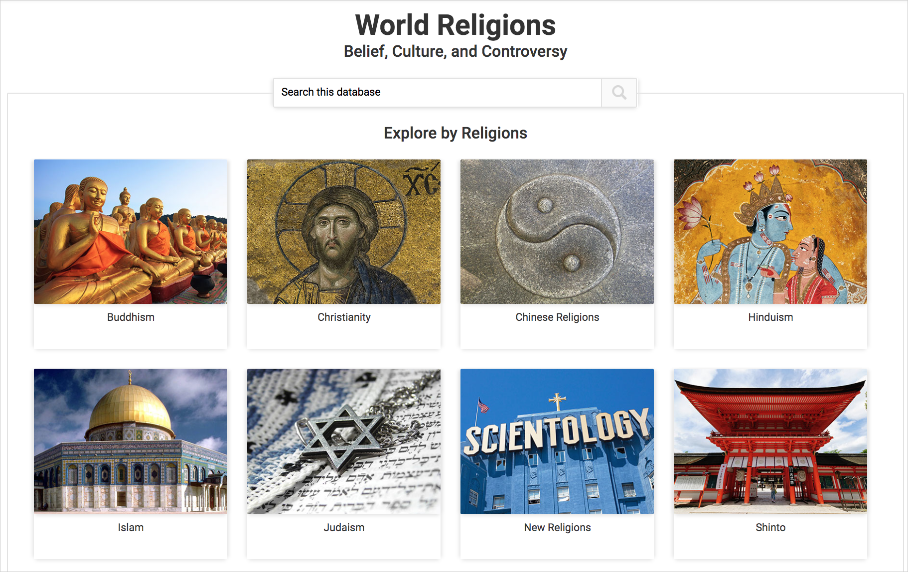 World Religions cover image